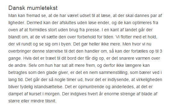 Dansk mumletekst